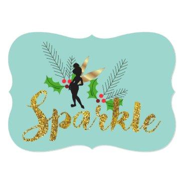Disney Themed Tinker Bell Christmas with Family Photos Card