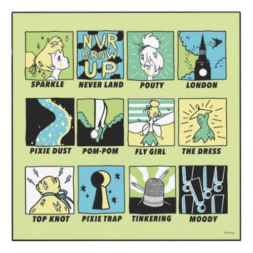 Tinker Bell   Cute Comics 5 Wood Print