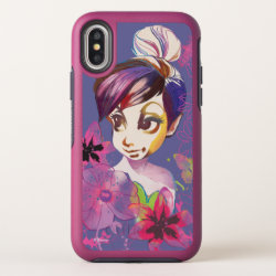 Tinker Bell Flowers OtterBox Symmetry iPhone X Case