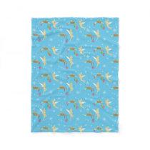 Tinker Bell   Golden Holiday Cheer Pattern Fleece Blanket