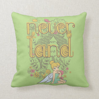 Tinker Bell in Neverland Forest Pillow