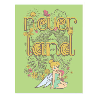 Tinker Bell in Neverland Forest Postcard
