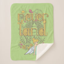 Tinker Bell in Neverland Forest Sherpa Blanket