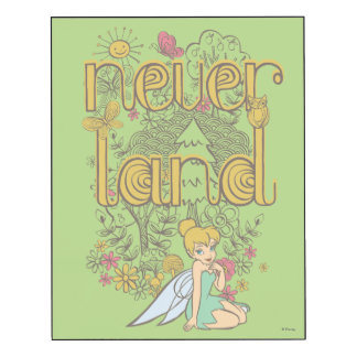 Tinker Bell in Neverland Forest Wood Wall Art