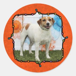 Tinker Bell - Jack Russell Round Sticker