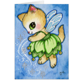 Tinker Bell Kitty - Cute Fairytale Cat Cards
