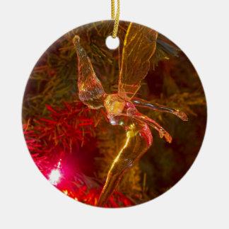 Tinker Bell Landing Ceramic Ornament