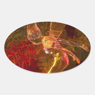 Tinker Bell Landing Oval Sticker
