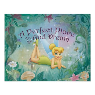 Disney Themed Tinker Bell Laying Down Poster