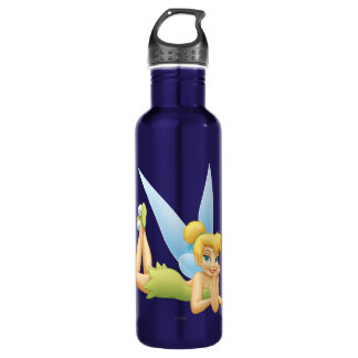 Tinker Bell Laying Down Stainless Steel Water Bottle