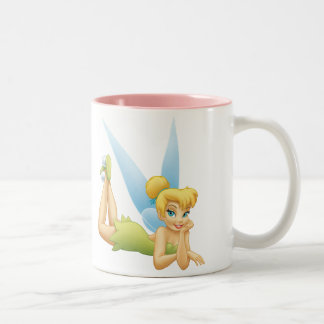Tinker Bell Laying Down Two-Tone Coffee Mug