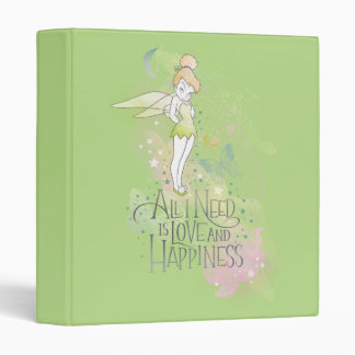 Tinker Bell Love And Happiness 3 Ring Binder
