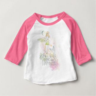 Tinker Bell Love And Happiness Baby T-Shirt