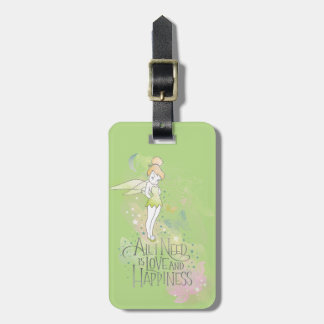 Tinker Bell Love And Happiness Bag Tag