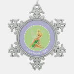 Tinker Bell  Pose 21 Snowflake Pewter Christmas Ornament
