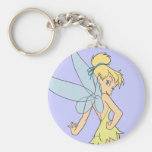 Tinker Bell Pose 4 Basic Round Button Keychain