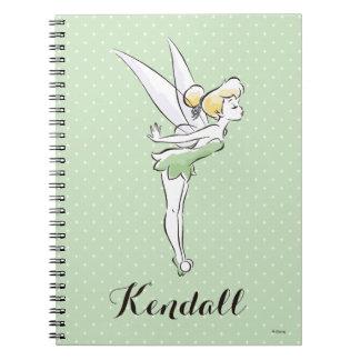 Tinker Bell | Pretty Little Pixie Spiral Notebook