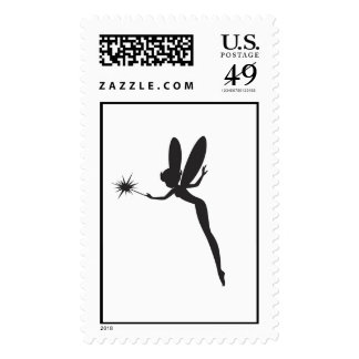 Tinker Bell Silhouette Disney Postage