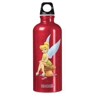 Tinker Bell Sitting on Mushroom Aluminum Water Bottle