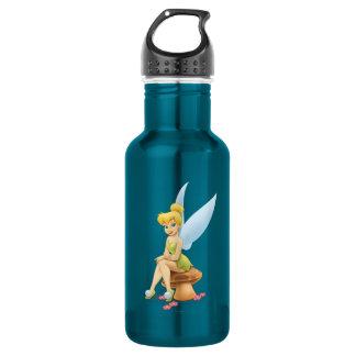 Tinker Bell Sitting on Mushroom Stainless Steel Water Bottle
