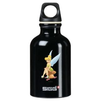 Tinker Bell Sitting on Mushroom Water Bottle