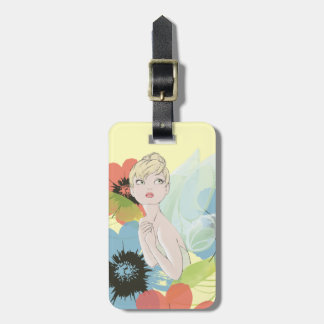 Tinker Bell Sketch With Cosmos Flowers Luggage Tag