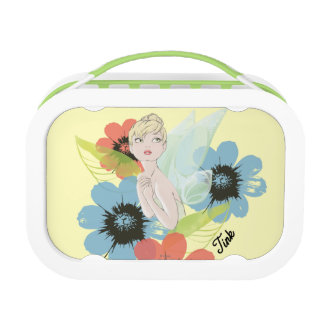 Tinker Bell Sketch With Cosmos Flowers Lunch Box