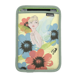Tinker Bell Sketch With Cosmos Flowers Sleeve For iPad Mini