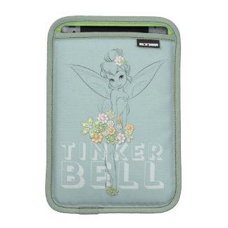 Tinker Bell Sketch With Jewel Flowers iPad Mini Sleeve