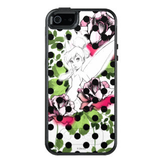 Tinker Bell Sketch With Roses and Polka Dots OtterBox iPhone 5/5s/SE Case