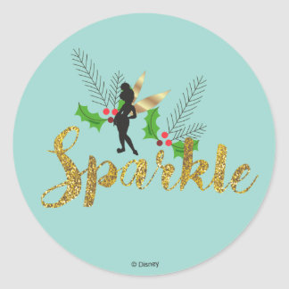 Tinker Bell   Tinker Bell Christmas Sparkle Classic Round Sticker