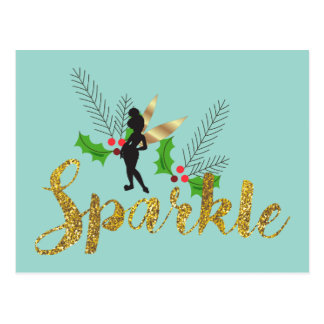 Tinker Bell   Tinker Bell Christmas Sparkle Postcard
