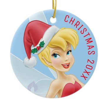 Disney Themed Tinker Bell | Tinker Bell Decorating The Tree Ceramic Ornament