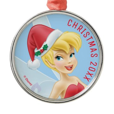 Disney Themed Tinker Bell | Tinker Bell Decorating The Tree Metal Ornament