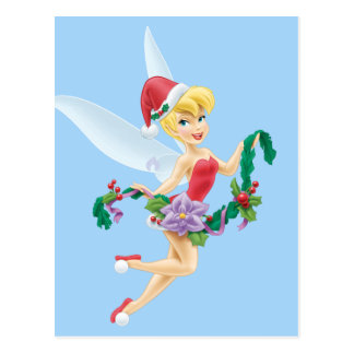 Tinker Bell   Tinker Bell Decorating The Tree Postcard