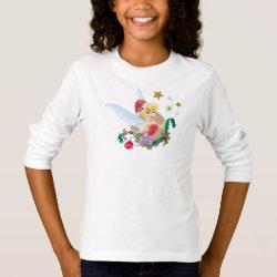 Girls' Basic Long Sleeve T-Shirt with Disney Christmas Ornaments design