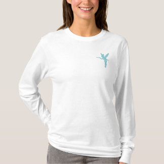Tinker Bell - Turquoise Embroidered Long Sleeve T-Shirt