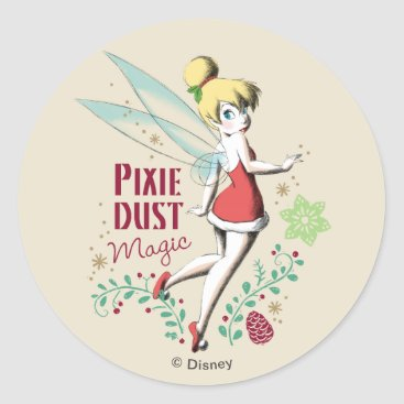 Disney Themed Tinker Bell | Vintage Pixie Dust Magic Classic Round Sticker