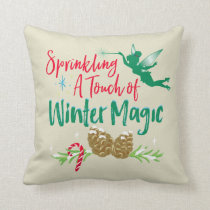 Tinker Bell | Winter Magic Throw Pillow