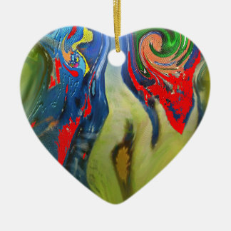 """""""Tinkerbell and the Candle"""" Heart Ornament"""
