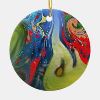 """""""Tinkerbell and the Candle"""" Round Ornament"""