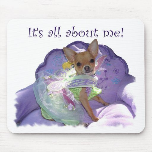 """Tinkerbell """"It's all about me!"""" Mouse Pad"""