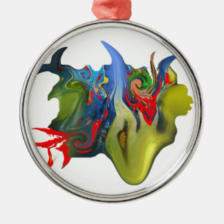 """""""Tinkerbell & the Candle"""" Premium Round Ornament"""