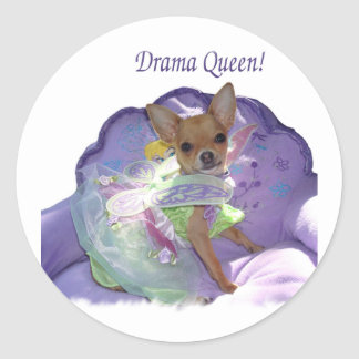 """Tinkerbell the """"Drama Queen!"""" Classic Round Sticker"""