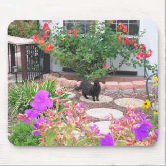 Tinkerbelle in the garden mouse pad