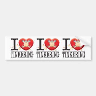 Tinkering Love Man Car Bumper Sticker