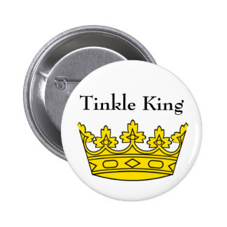 Tinkle King Badge Pinback Button