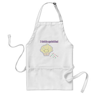 tinkle sprinkles funny cupcake adult apron