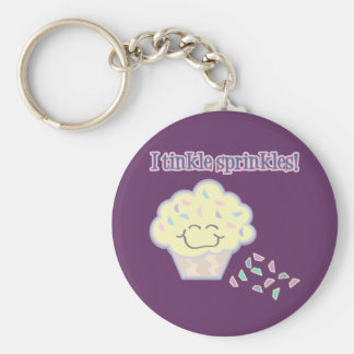 tinkle sprinkles funny cupcake basic round button keychain