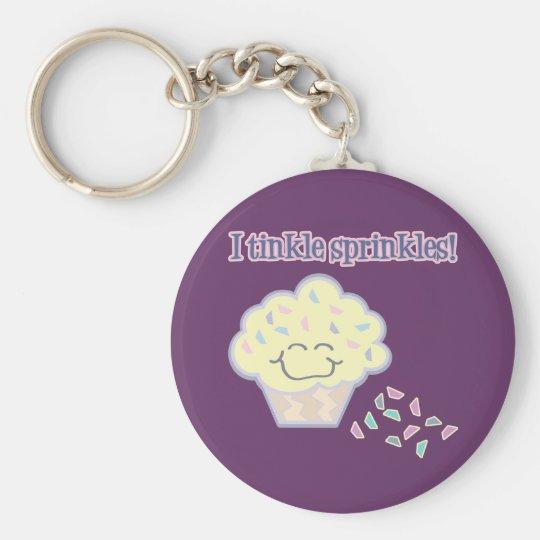 tinkle sprinkles funny cupcake keychain